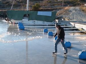 January - Skating in the marina